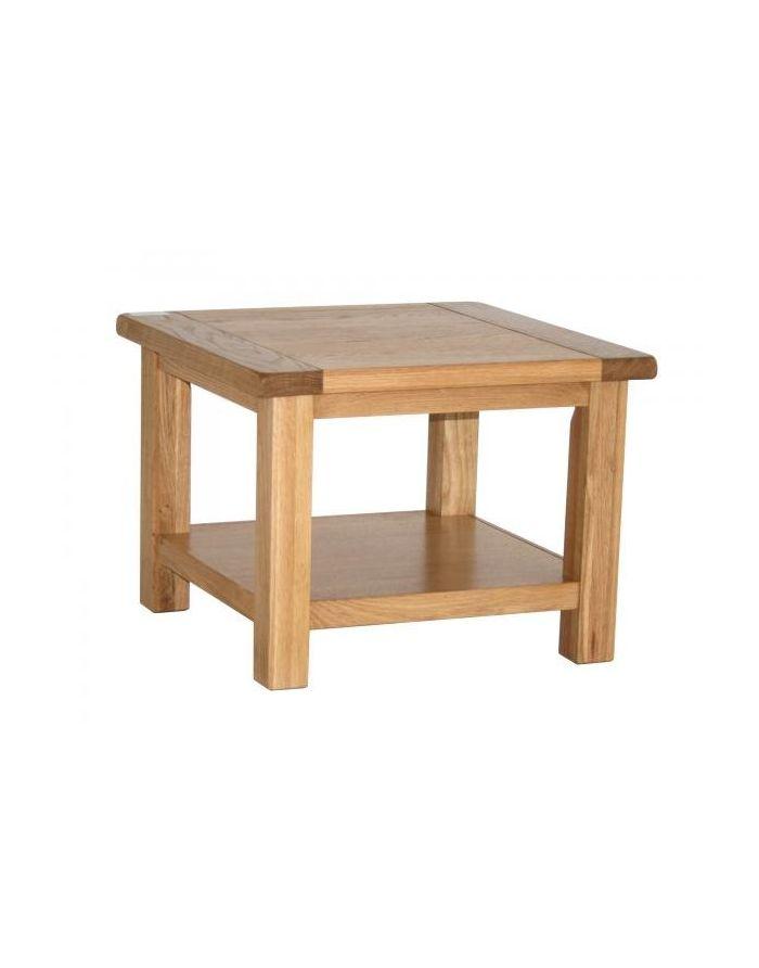 Vancouver Select Oak Square Coffee Table With Shelf Designer Furniture Ltd