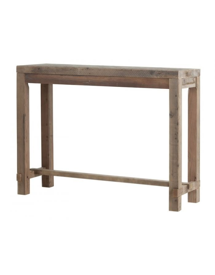Cal Stadium Reclaimed Wood Narrow Bar Table California