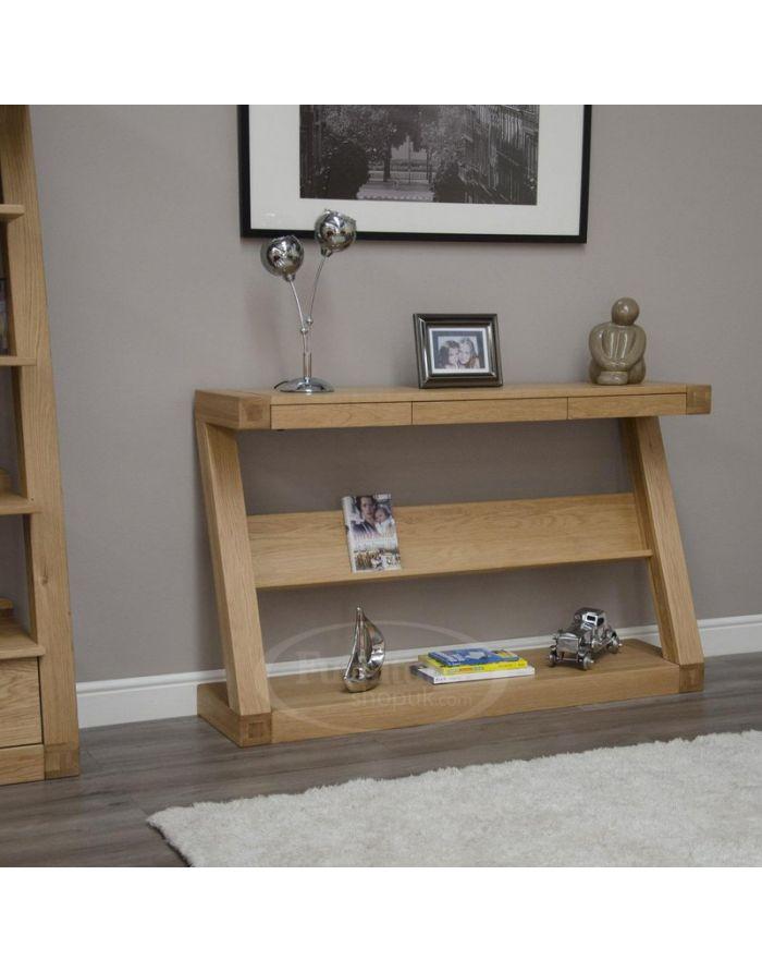 Z Oak Designer Long Console Table Designer Furniture Ltd