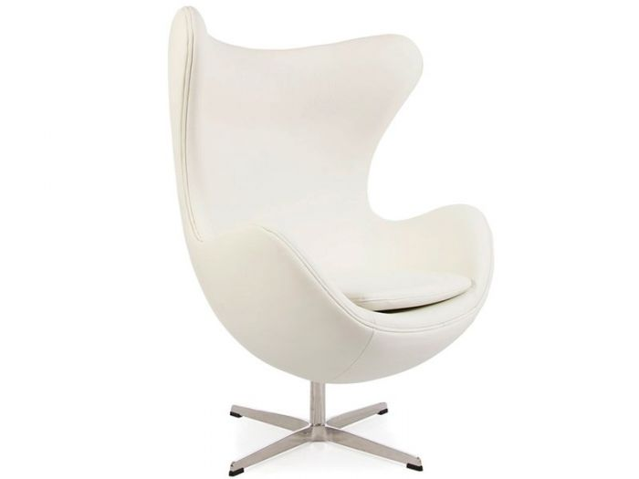 Arne Jacobsen Egg Chair in White Leather | Retro Chairs | Funky Chairs | Designer Furniture Ltd Designer Furniture Ltd  sc 1 st  Designer Furniture Ltd & Arne Jacobsen Egg Chair in White Leather | Retro Chairs | Funky ...