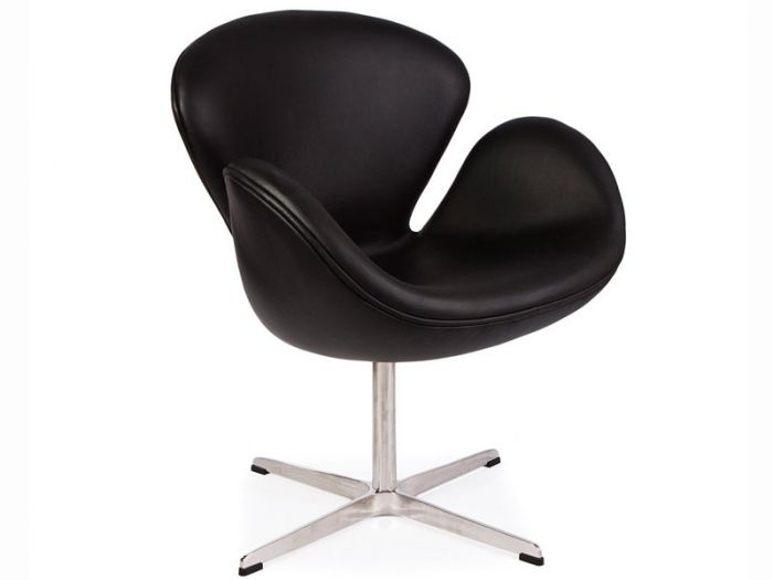 Arne Jacobsen Swan Chair In Leather Designer Furniture Ltd