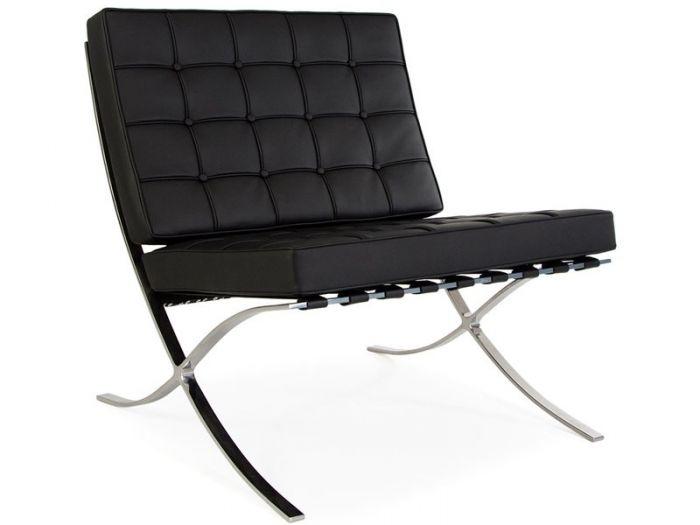 Strange Iconic Retro Barcelona Leather Lounge Chair Dailytribune Chair Design For Home Dailytribuneorg