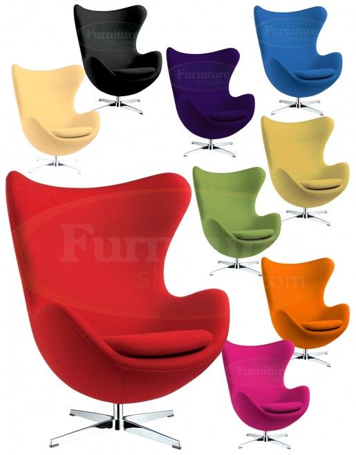 Purple Funky Replica Retro Jacobsen Egg Armchair In Cashmere Designer Furniture Ltd