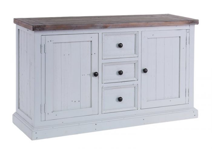 The Hampton Grey Pianted Shabby Chic Sideboard Has It All