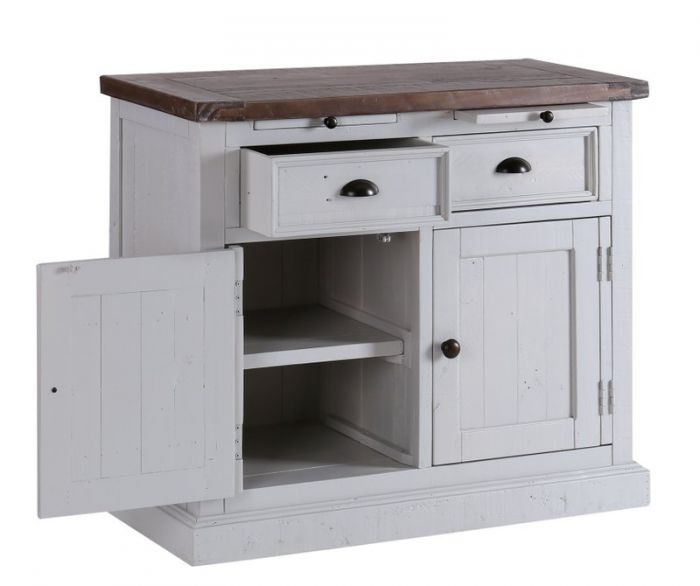 The Hampton Grey Painted Shabby Chic Small Sideboard Has It All