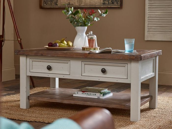 The Hampton Grey Painted Shabby Chic Coffee Table Has It All Functionality Design And A Touch Of Grey This Pine Furniture Collection Is Sure To Tick All The Boxes Designer Furniture Ltd