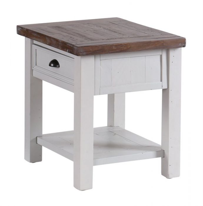 Hampton Grey Painted Shabby Chic Lamp Table