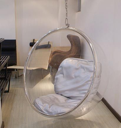 Funky Iconic Retro Hanging Bubble Pod Chair