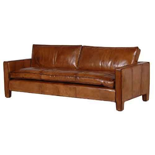 Luxury Brown Italian Leather Sofa Designer Furniture Ltd