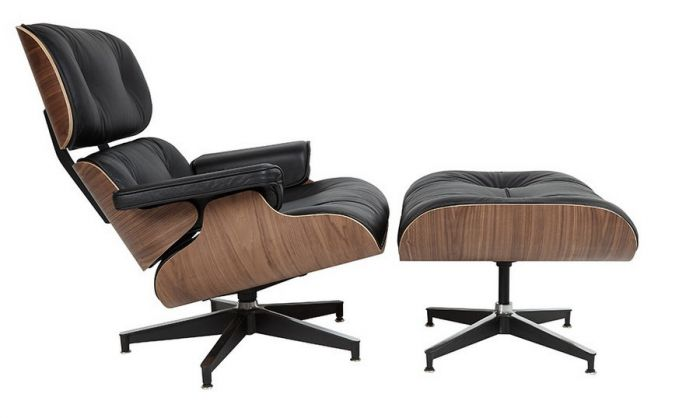 Awe Inspiring Retro Eames Brown Leather Lounge Chair And Footstool Classic Walnut Short Links Chair Design For Home Short Linksinfo