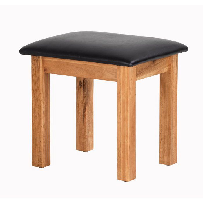 Cherbourg Rustic Solid Oak Dressing Table Stool Designer Furniture Ltd