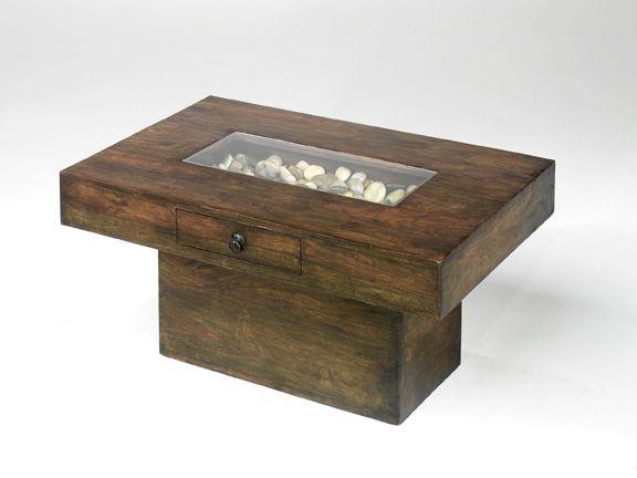Jali Solid Sheesham Hardwood Large Pebble Coffee Table Designer Furniture Ltd