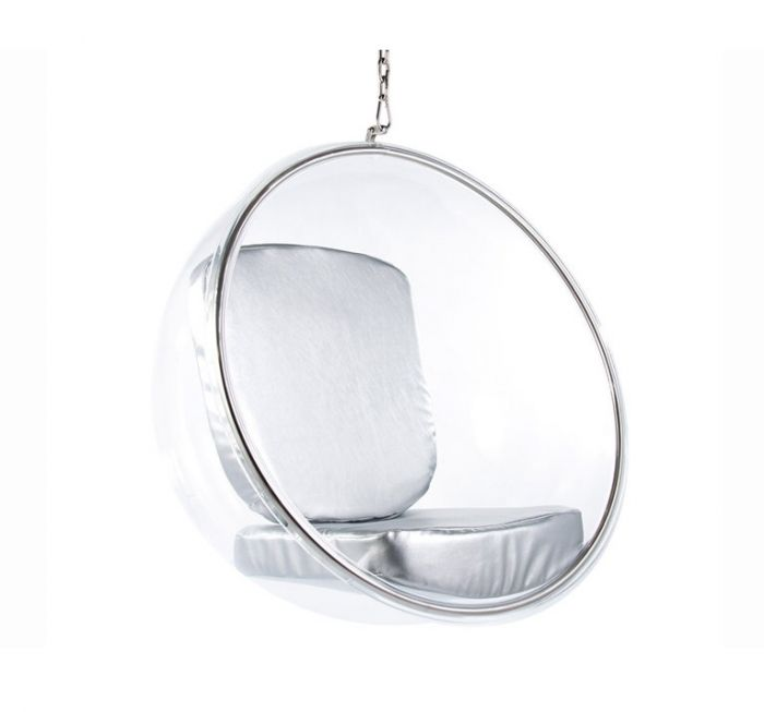 Eero Aarnio Hanging Bubble Chair With Silver Cushions Designer Furniture Ltd Designer Furniture Ltd