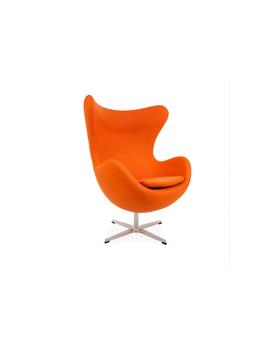 Orange Funky Replica Retro Jacobsen Egg Armchair In Cashmere ...