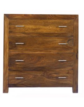 Cuba Solid Sheesham 4 Drawer Chest ...