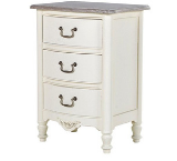 SHABBY CHIC WHITE DISTRESSED ANTIBES FRENCH FURNITURE